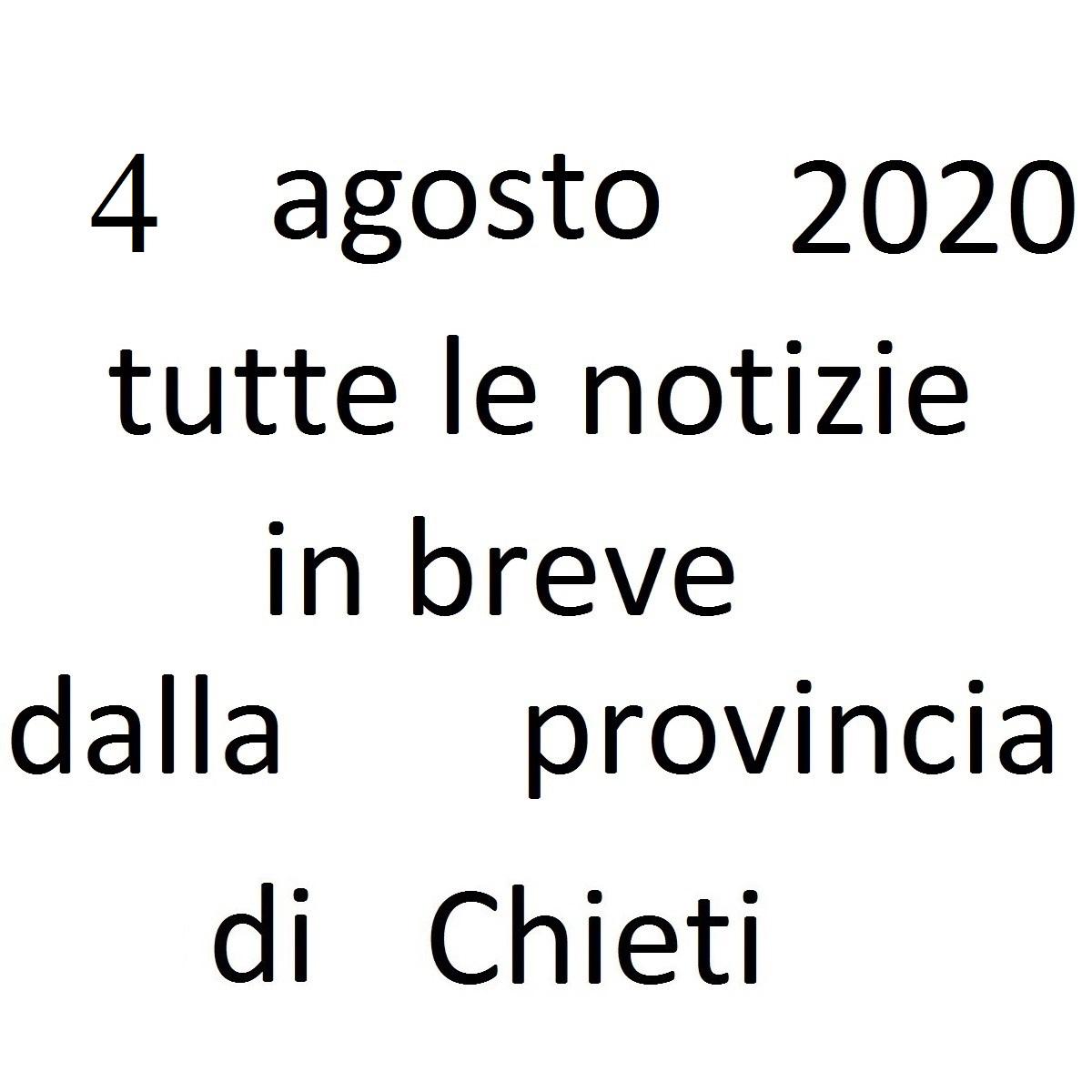 4 agosto 2020 notizie in breve dalla Provincia di Chieti foto