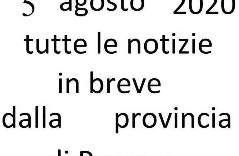 5 agosto 2020 notizie in breve Pescara