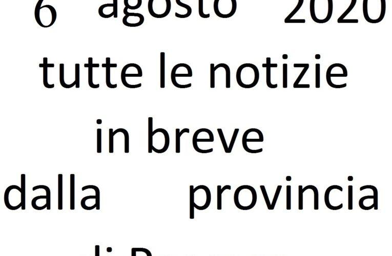 6 agosto 2020 notizie in breve Pescara