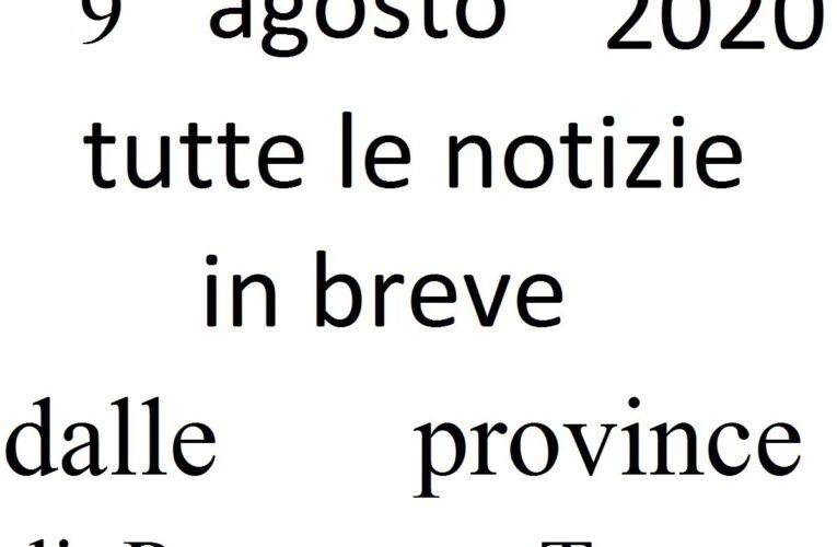 9 agosto 2020 notizie in breve da Pescara e Teramo