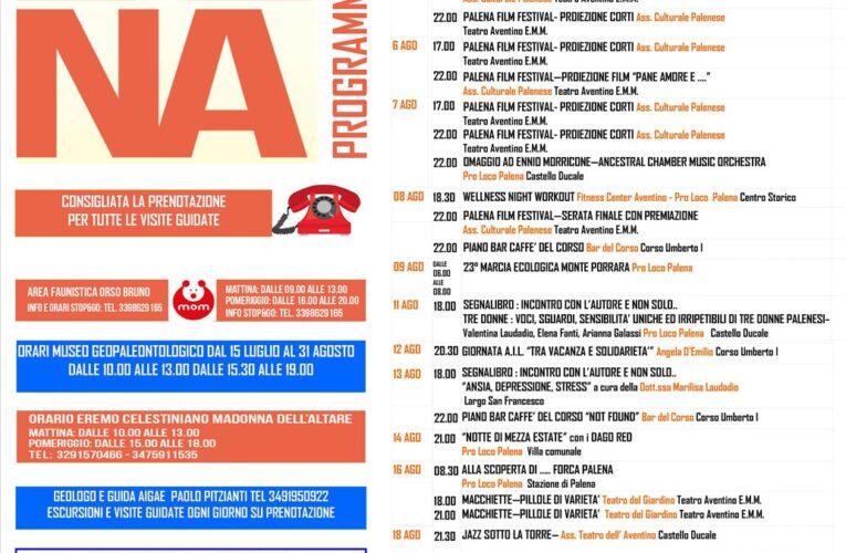 Palena: programma eventi estate 2020