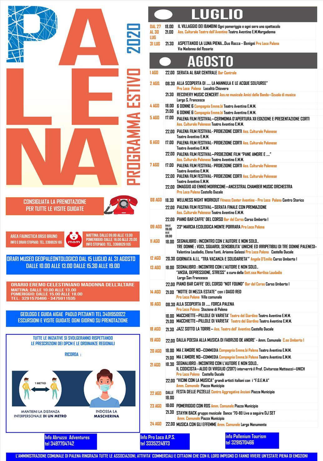 Palena: varato il programma per l'estate locandina