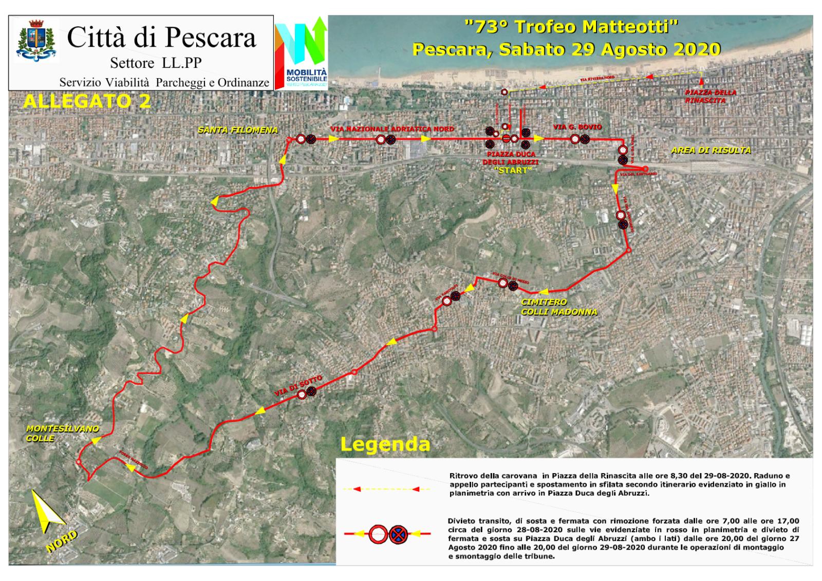 Mappa Viabilità trofeo Matteotti 2020