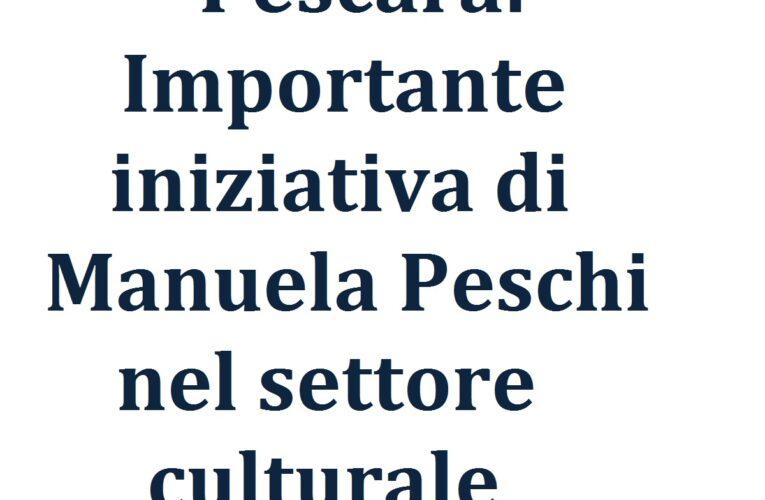 Pescara: iniziativa culturale di Manuela Peschi