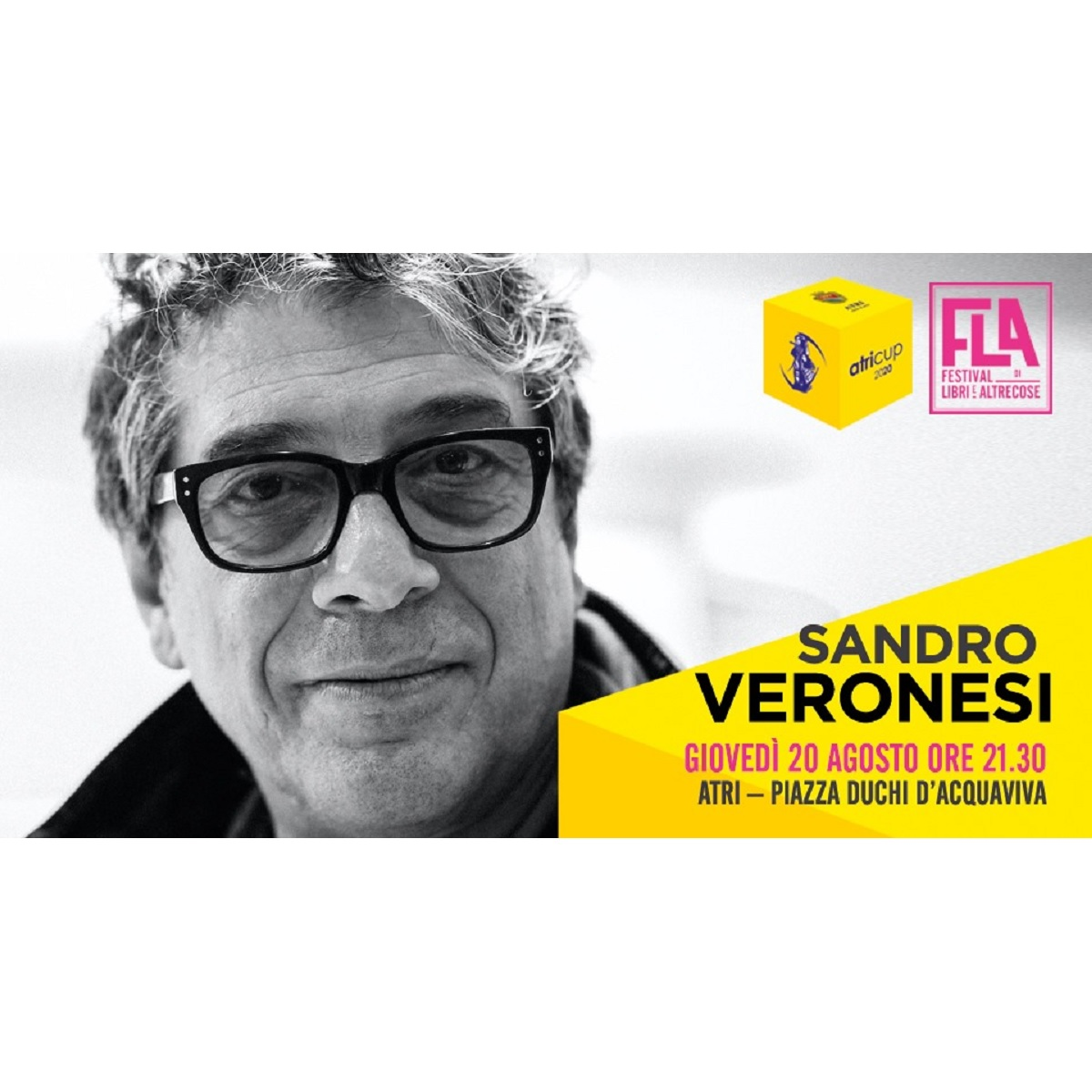 Sandro Veronesi ad Atri il 20 agosto 2020 foto
