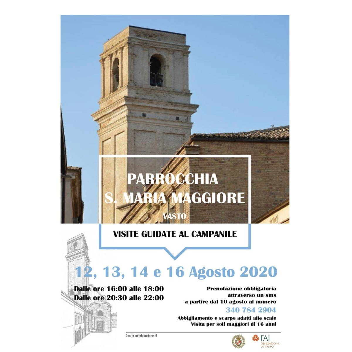 Visitare Campanile della Chiesa Santa Maria Maggiore di Vasto ad agosto 2020