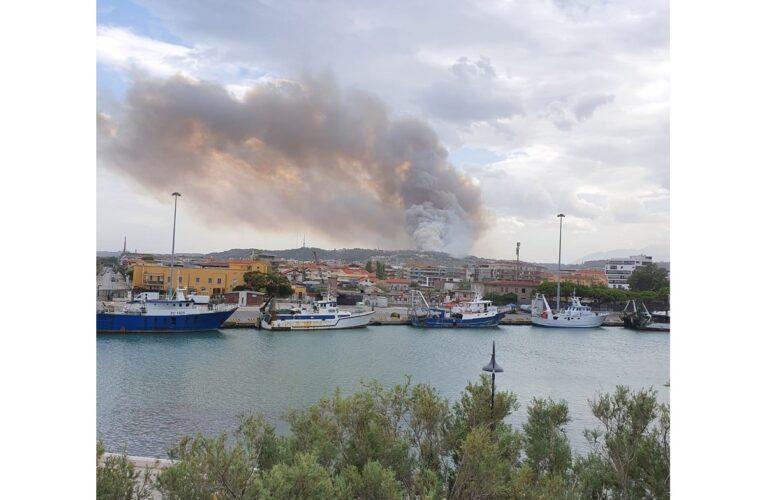 Pescara: Colle Renazzo brucia