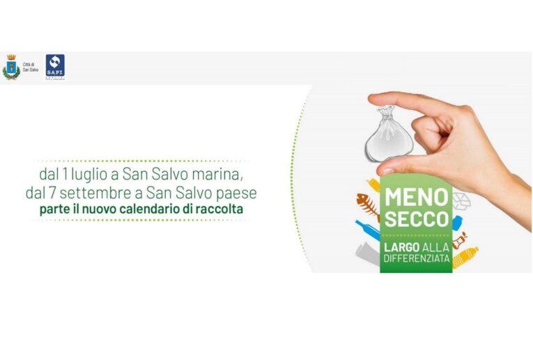 San Salvo: novità 2020 raccolta differenziata dei rifiuti