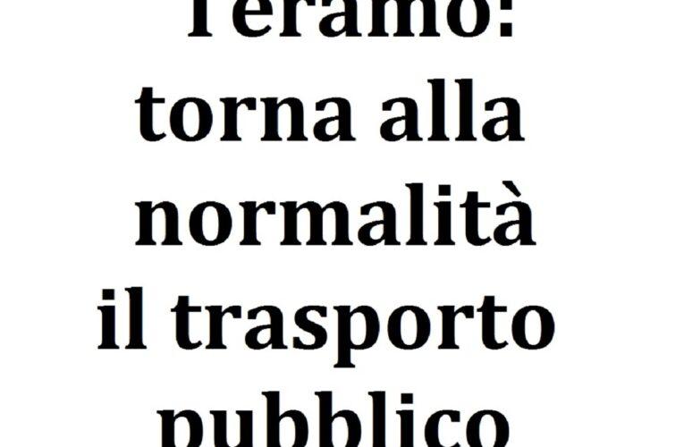 Teramo: torna alla normalità il trasporto pubblico