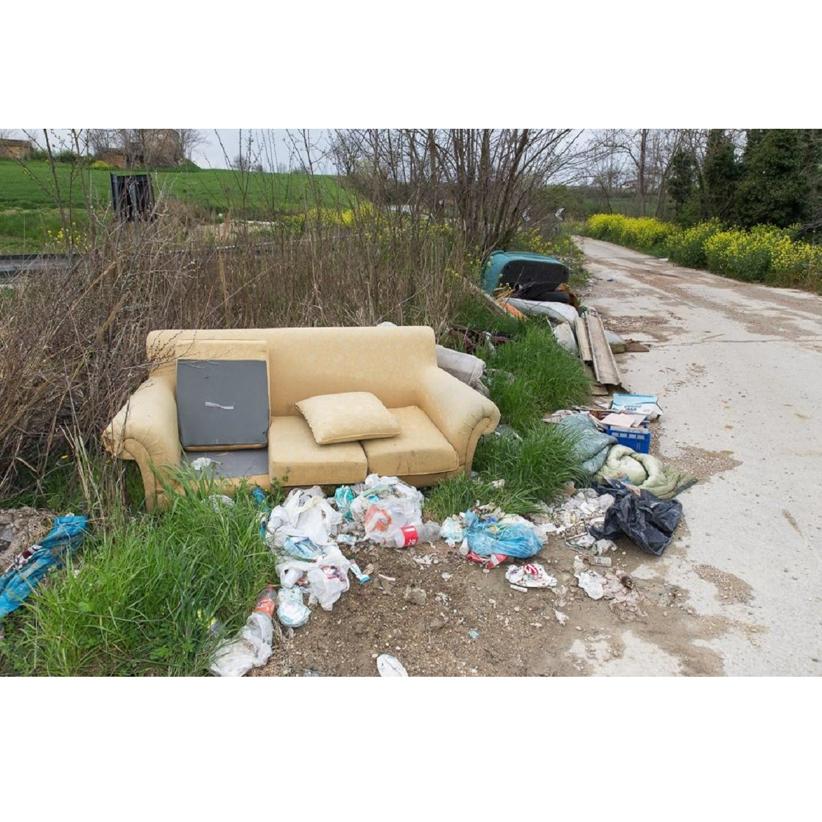 Città Sant'Angelo rimozione rifiuti lungo scarpate foto