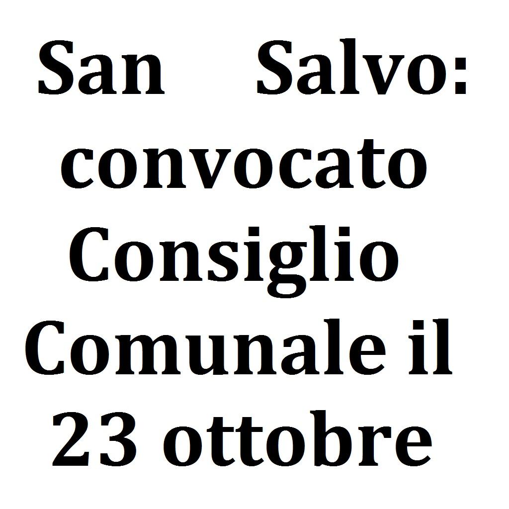 San Salvo convocato Consiglio Comunale il 23 ottobre 2020 foto