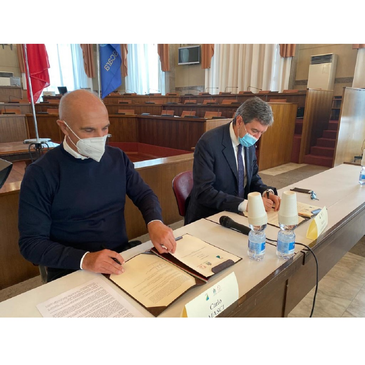 Pescara Marsilio e Masci firmano accordo aree di risulta foto