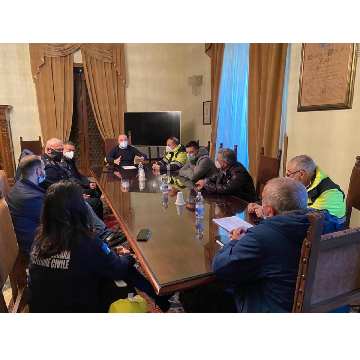 Pescara: riunione Coordinamento emergenze meteo foto