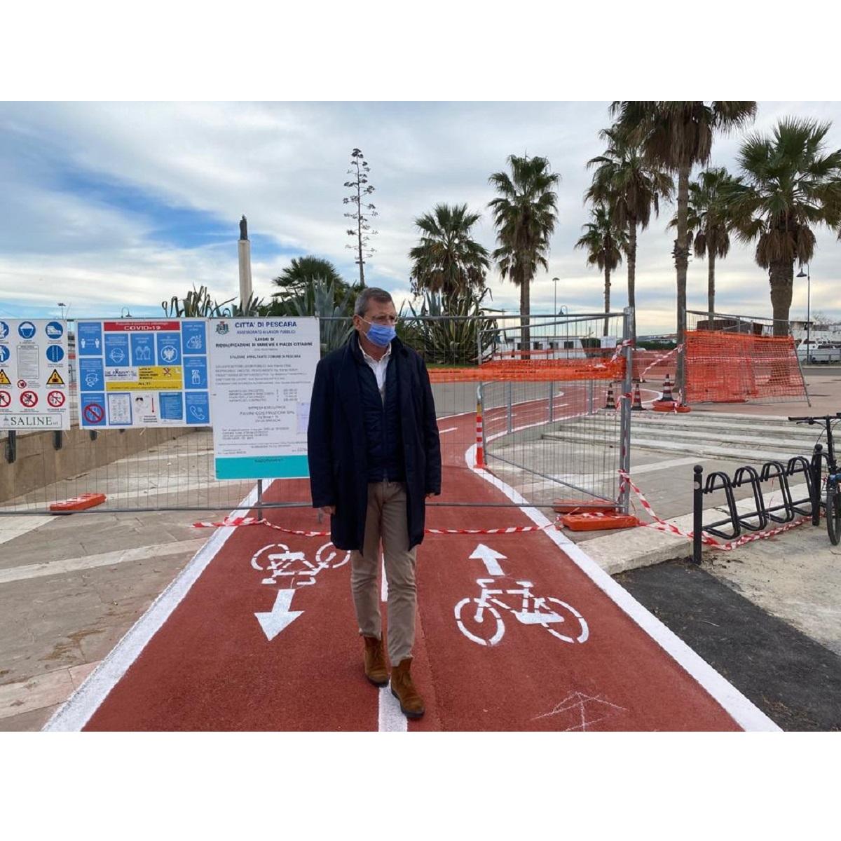 Pescara realizzati raccordo e pista ciclabile foto