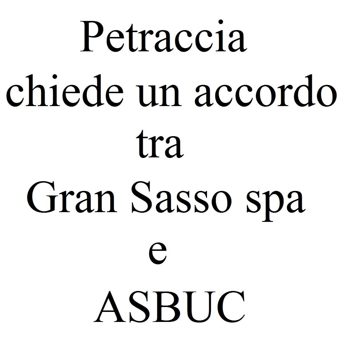 Petraccia chiede un accordo tra Gran Sasso spa e ASBUC foto