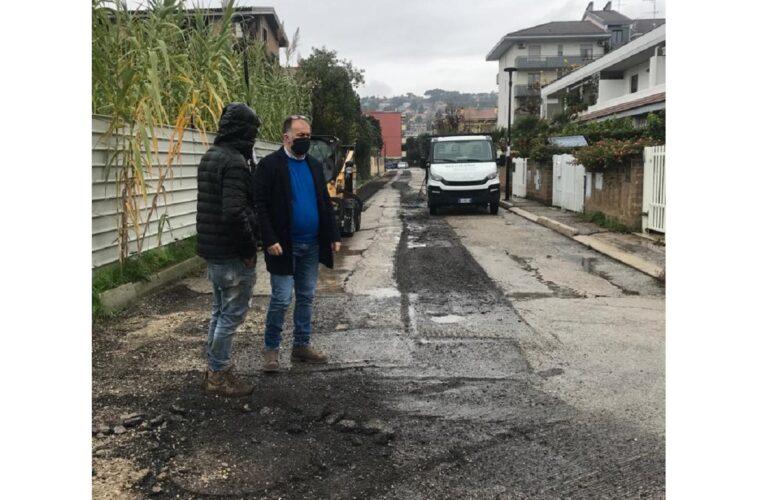 Proseguono i lavori di asfaltatura strade in Montesilvano