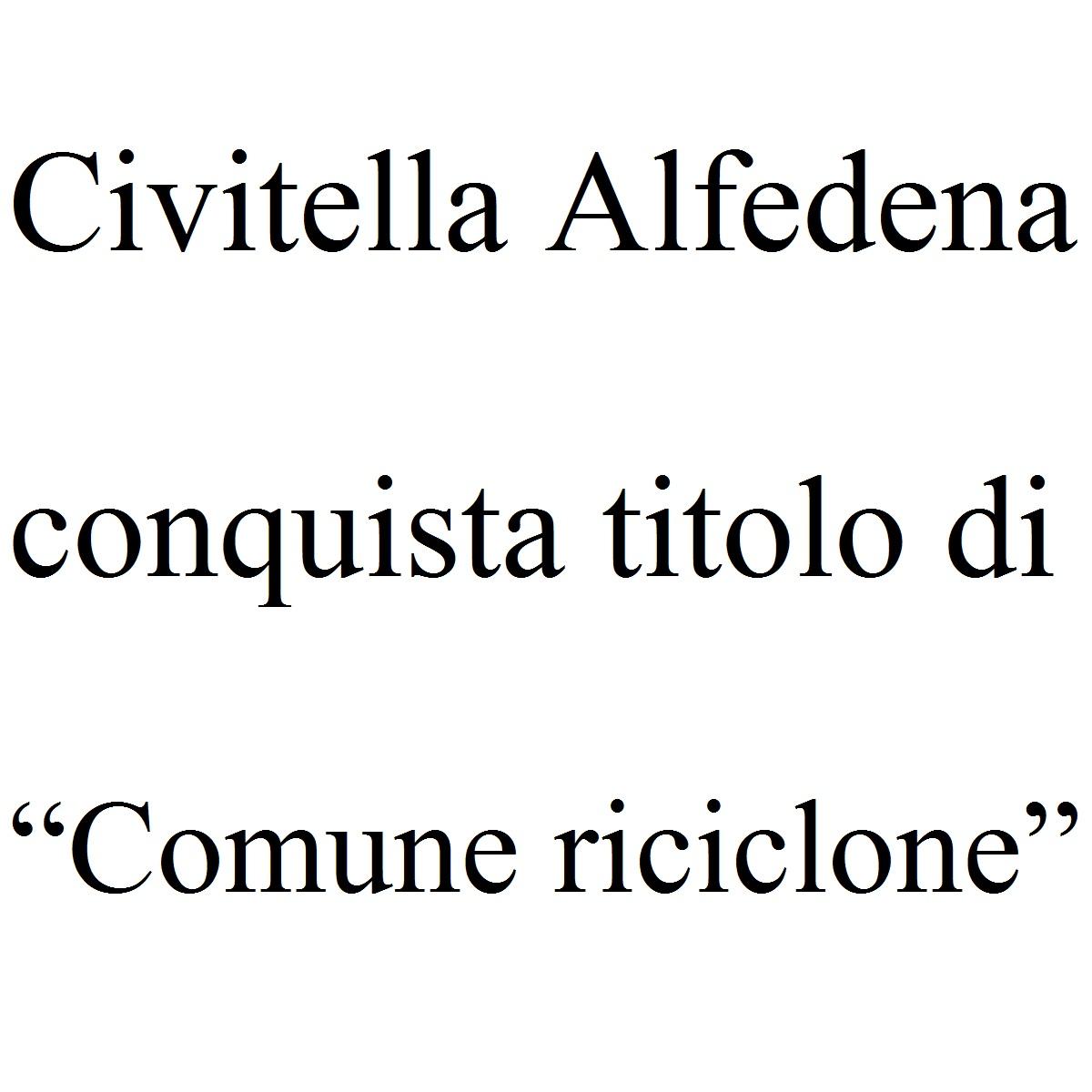 """Civitella Alfedena conquista titolo di """"Comune riciclone"""" foto"""