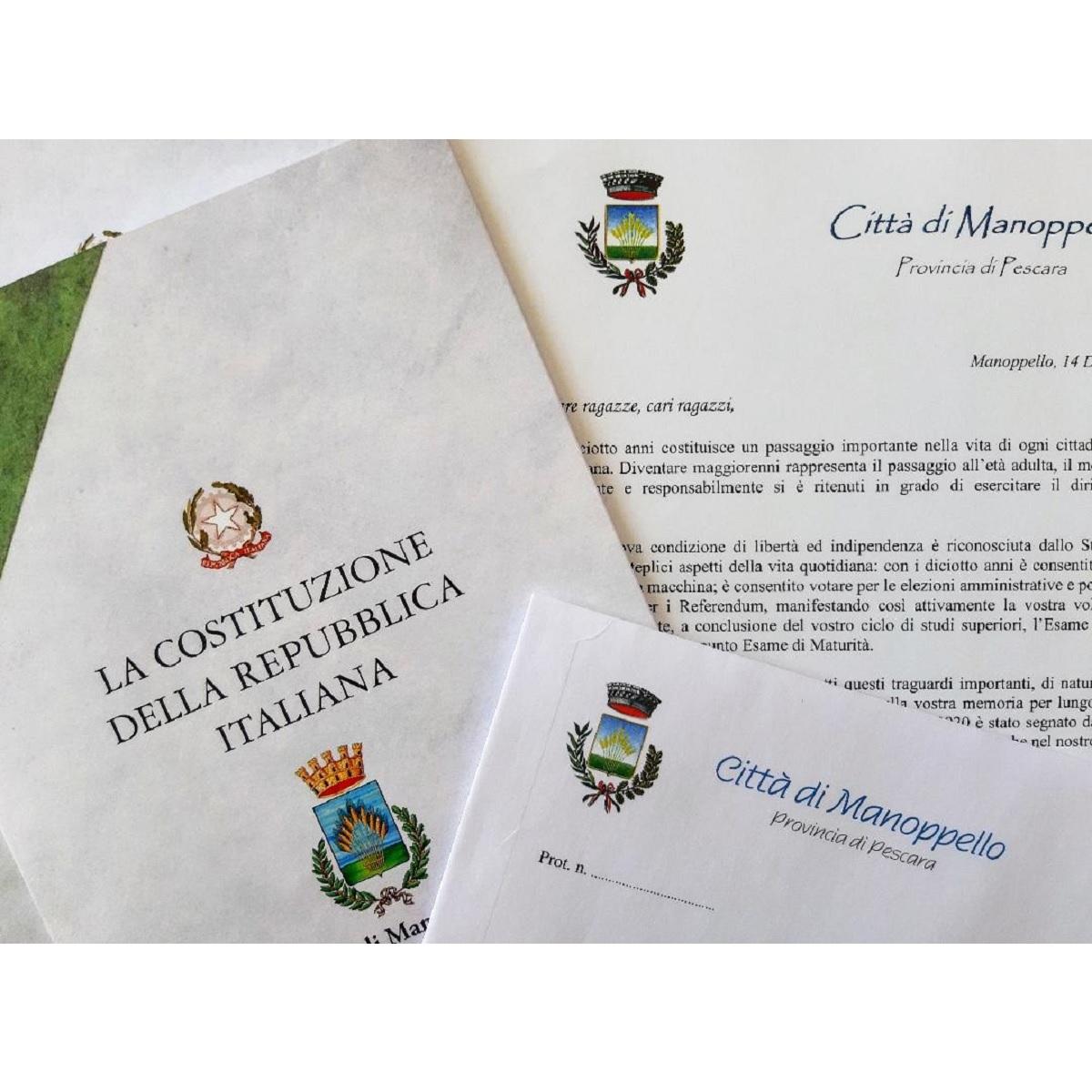 Manoppello inviate copie della Costituzione ai diciottenni foto