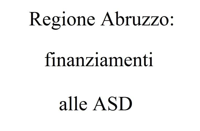 Regione Abruzzo: finanziamenti alle ASD