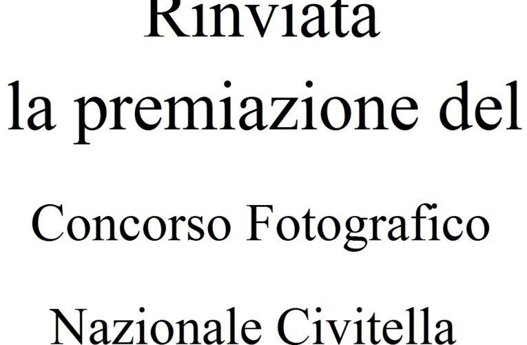 Rinviata premiazione Concorso Fotografico Civitella