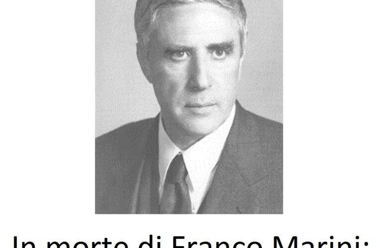 Addio Franco Marini: il nostro ricordo