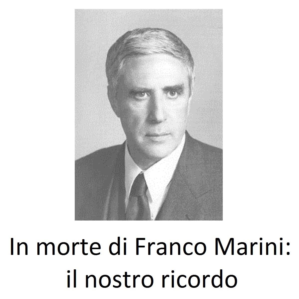 In morte di Franco Marini il nostro ricordo foto