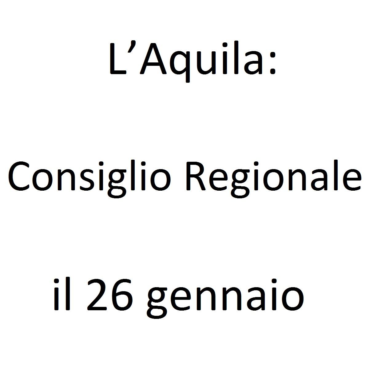 L'Aquila Consiglio Regionale il 26 gennaio 2020 foto