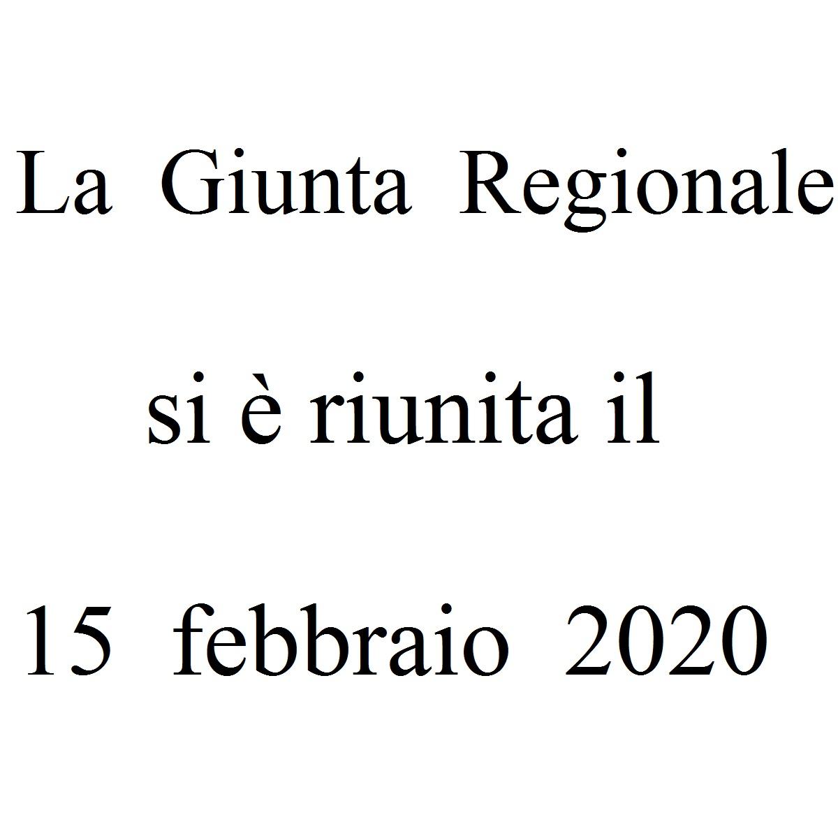 La Giunta Regionale si è riunita il 15 febbraio 2020 foto