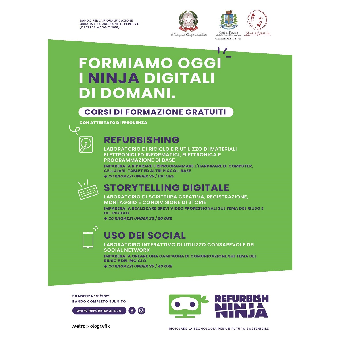 Pescara partono corsi professionali (settore informatico) foto