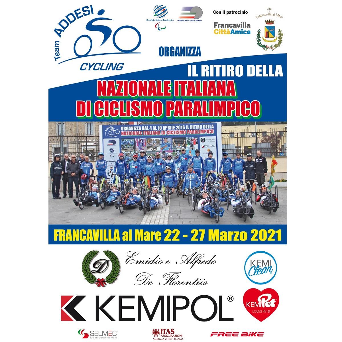 Francavilla al Mare ospita nazionale italiana di paraciclismo fofo