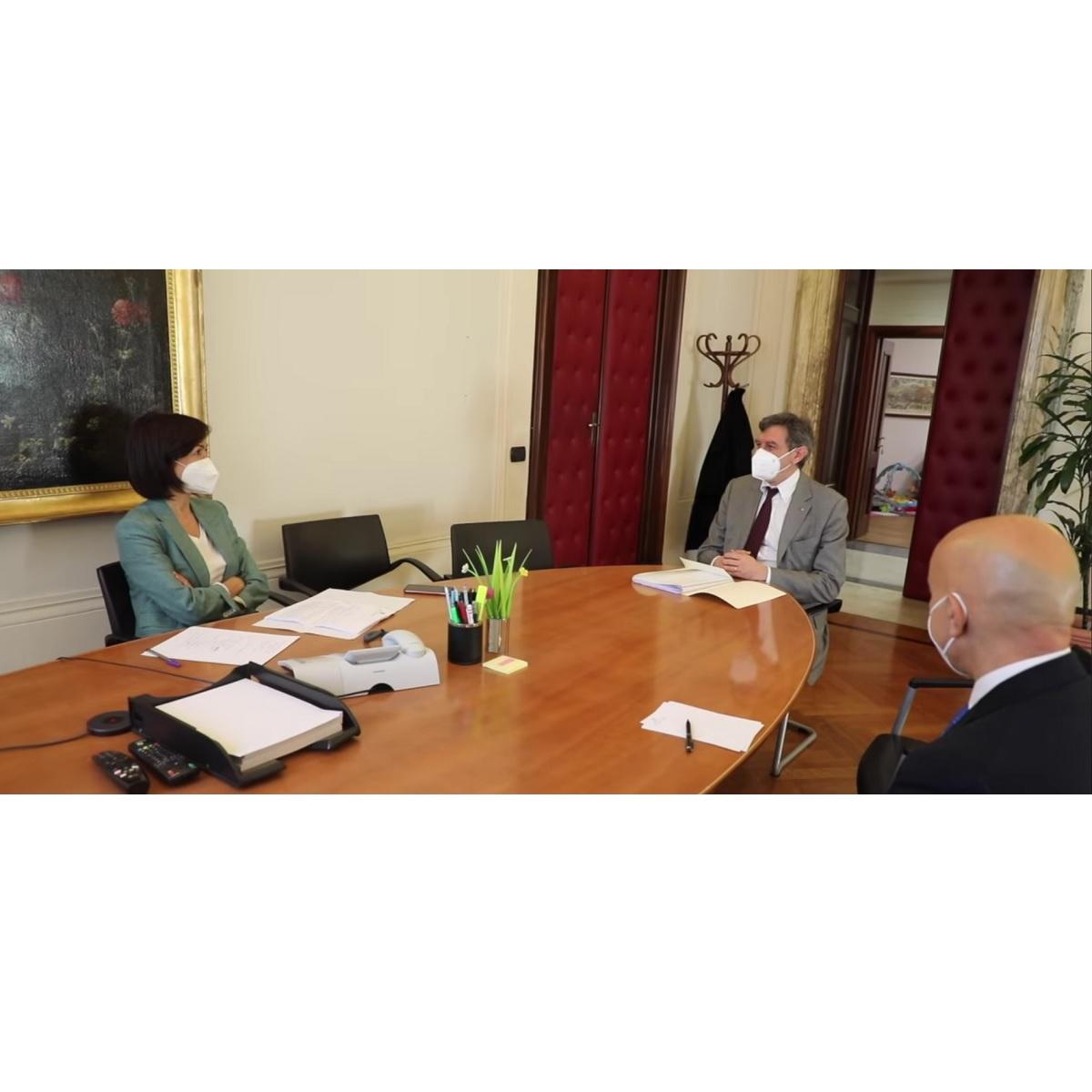 Incontro a Roma fra Marsilio e il Ministro Carfagna foto