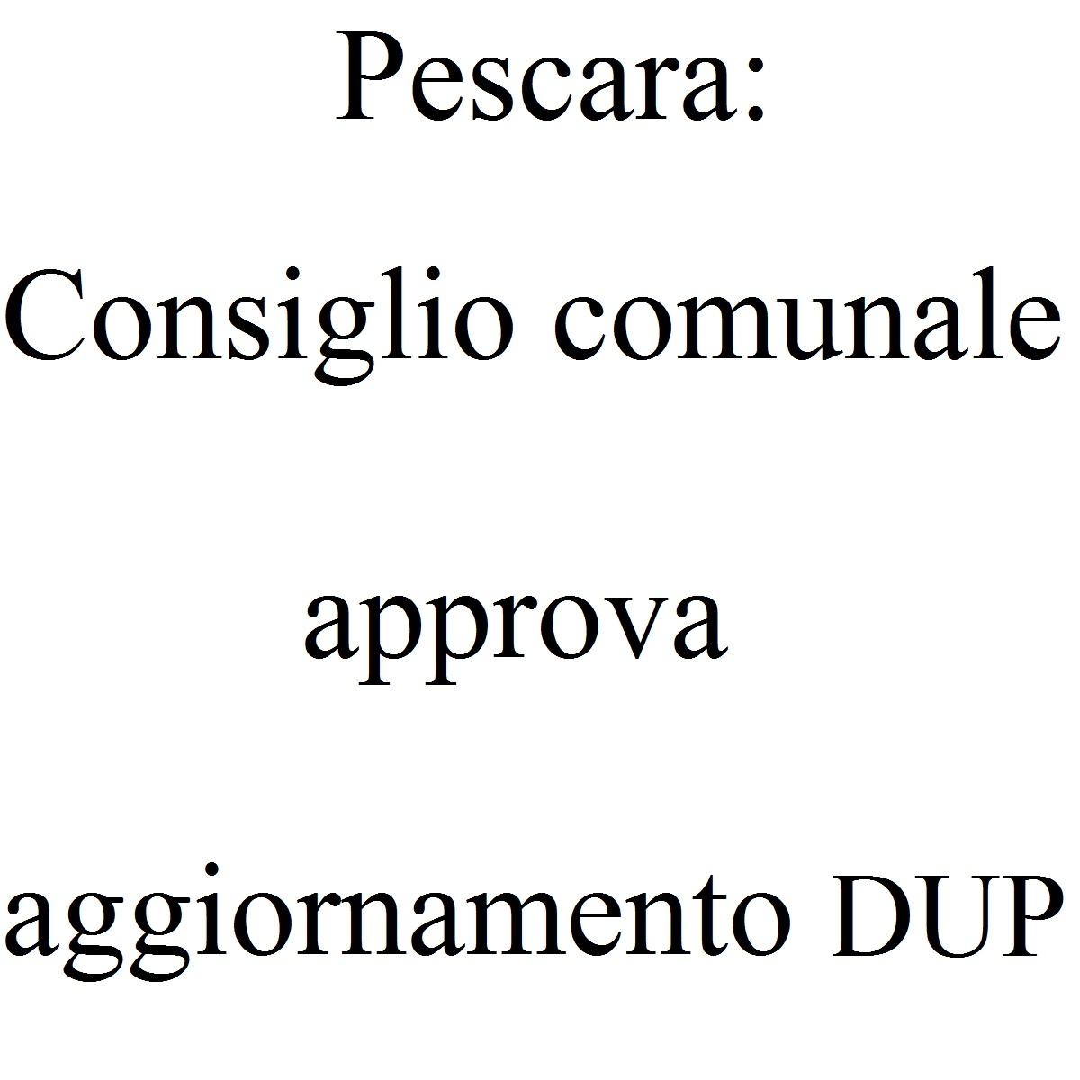 Pescara Consiglio comunale approva aggiornamento DUP foto