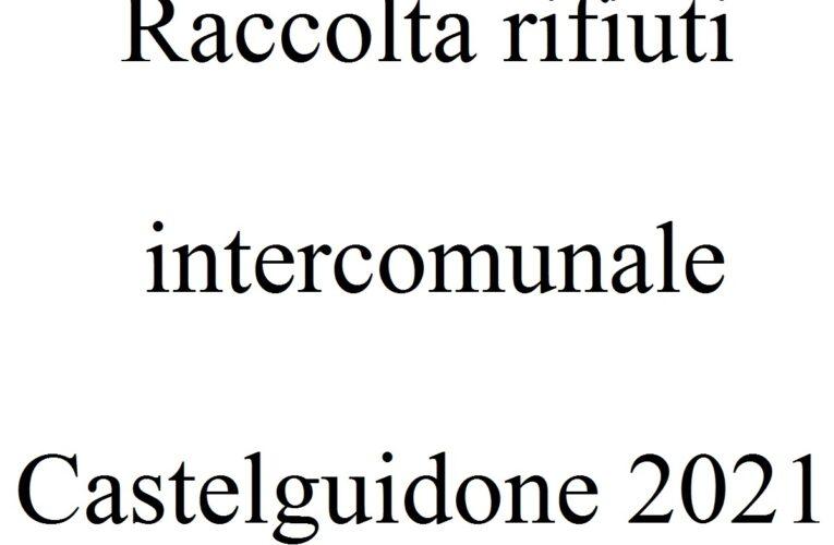 Raccolta rifiuti intercomunale Castelguidone 2021