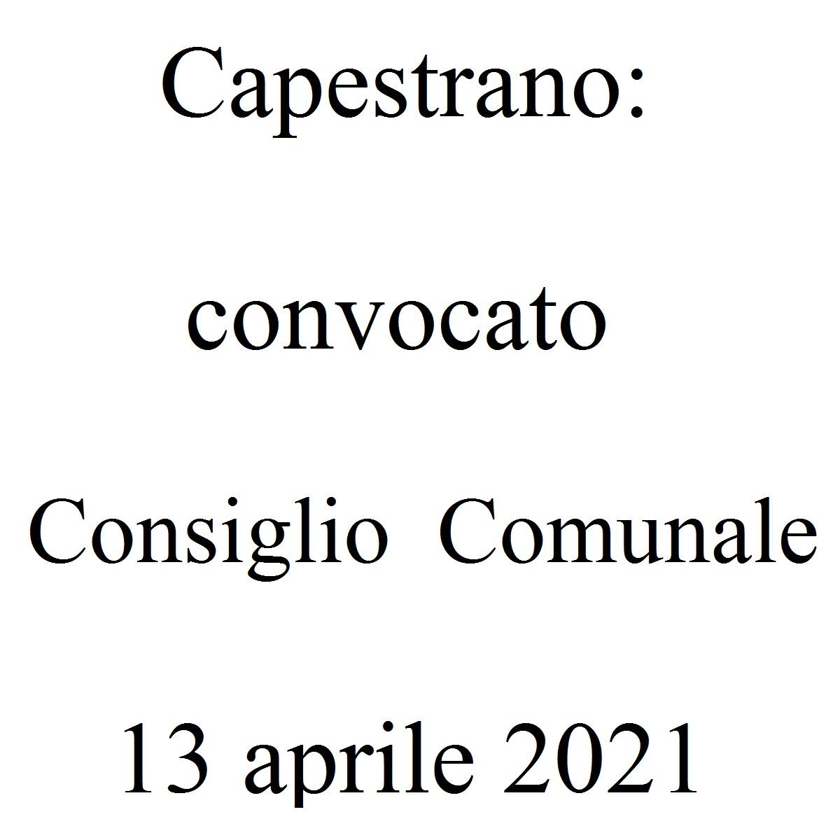 Capestrano convocato Consiglio Comunale 13 aprile 2021 foto