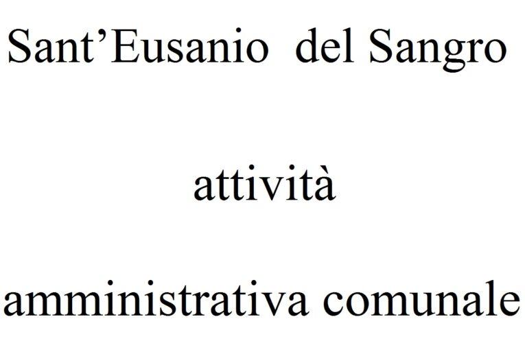 Sant'Eusanio del Sangro: attività amministrativa comunale