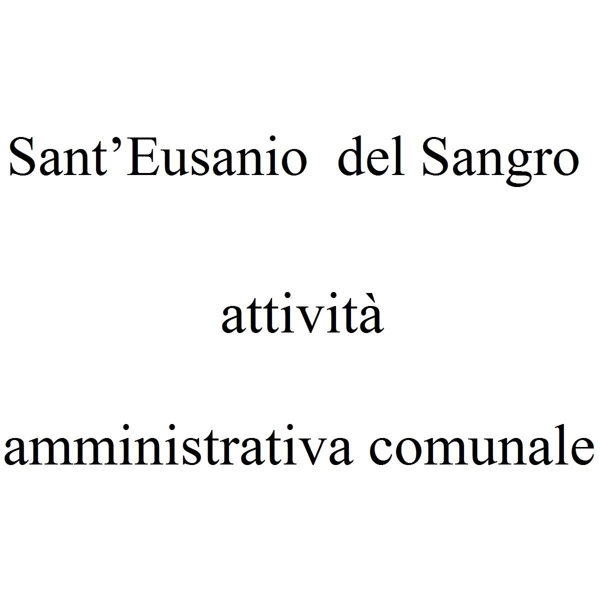Sant'Eusanio del Sangro attività amministrativa comunale foto