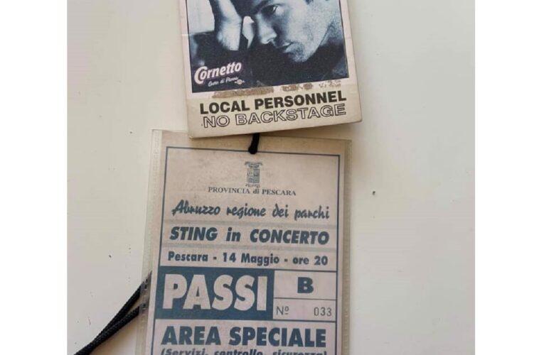 14 maggio 1996: Sting si esibisce a Pescara
