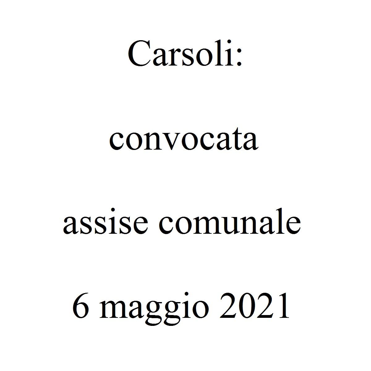 Carsoli convocata assise comunale 6 maggio 2021 foto