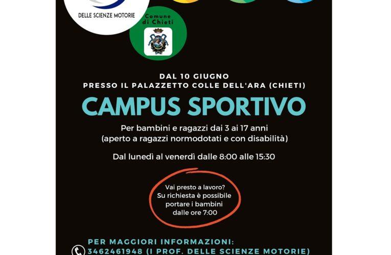 Chieti: campus sportivo per bambini e ragazzi
