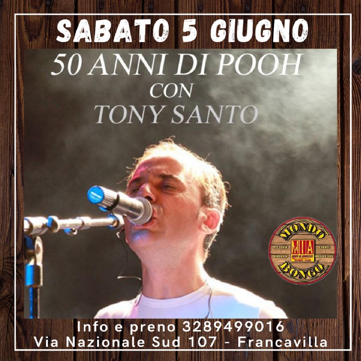 50 anni di Pooh con Tony Di Santo sabato 5 giugno 2021 foto
