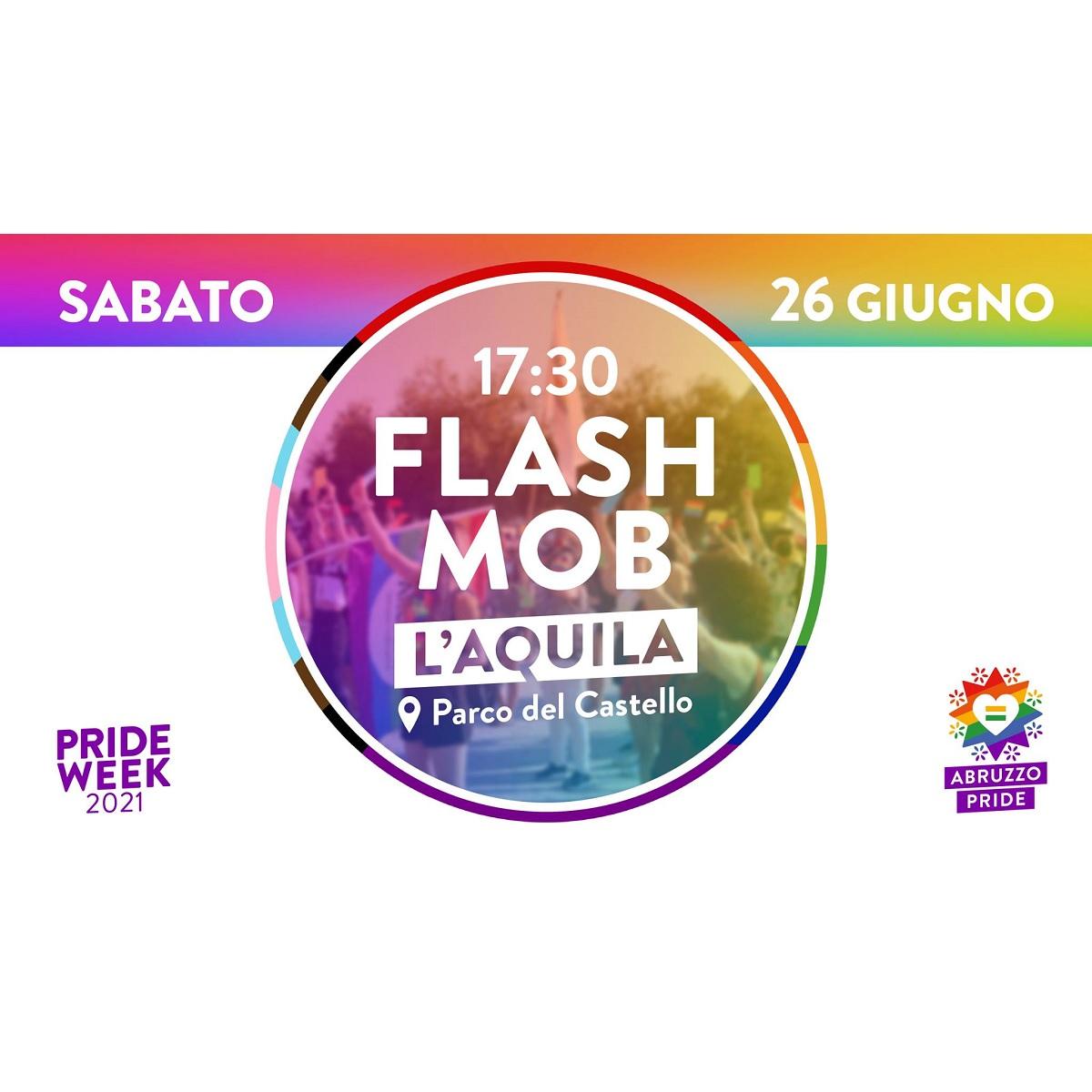 Abruzzo Pride flashmob a L'Aquila sabato 26 giugno foto