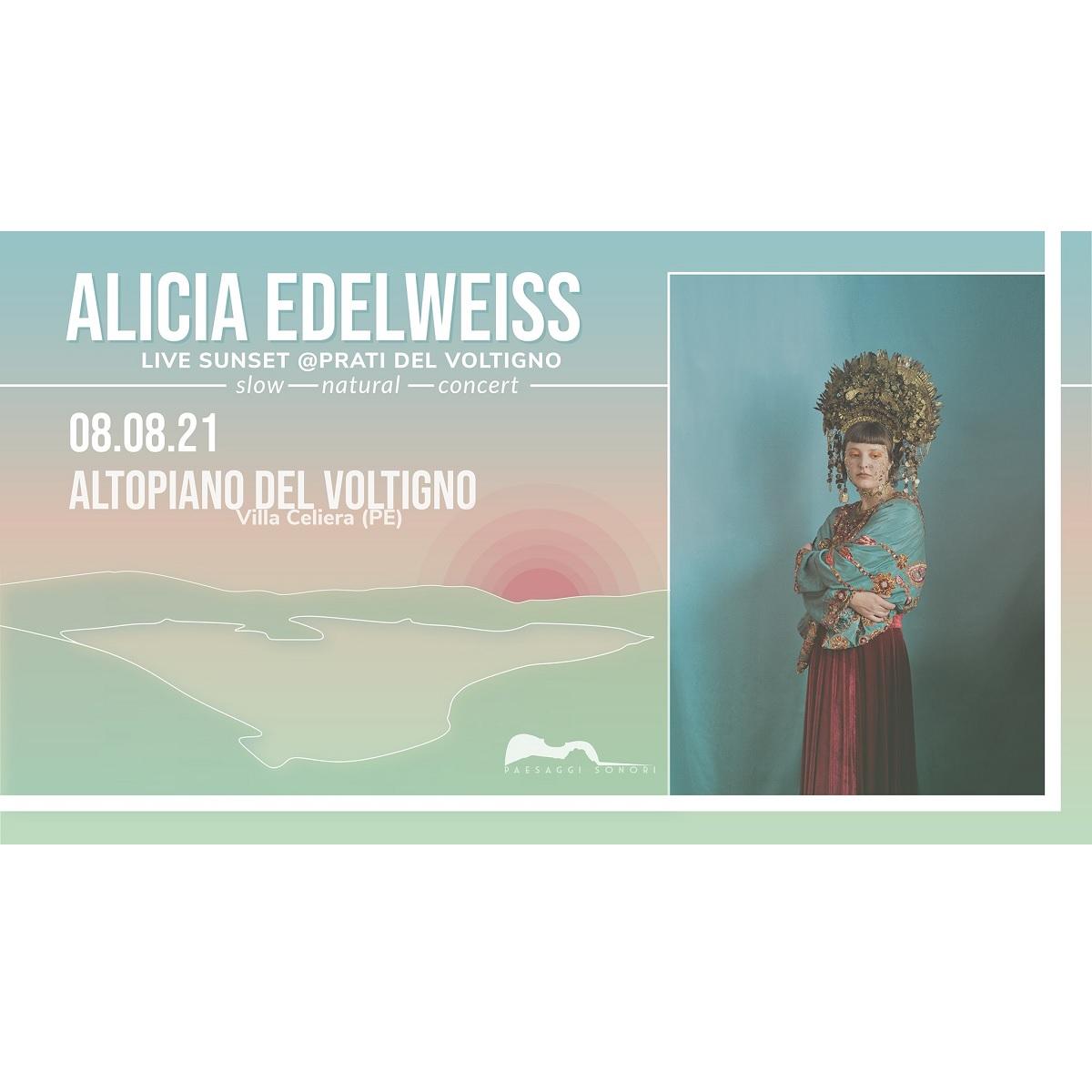 Alicia Edelweiss live sunset presso l'Altopiano del Voltigno foto
