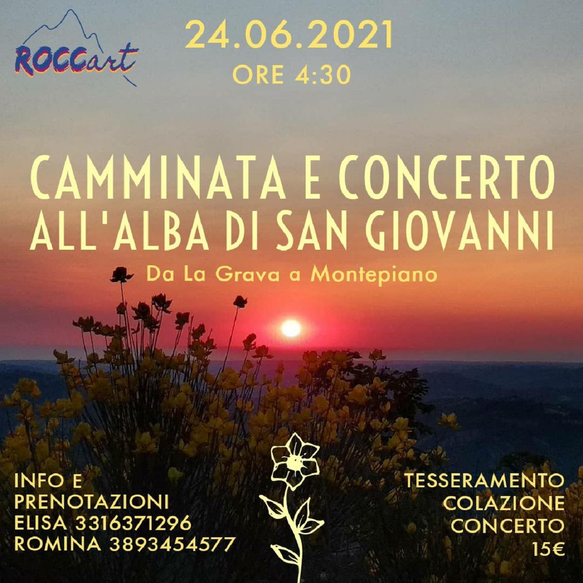 Camminata e concerto a Roccamontepiano 24 giugno 2021 foto