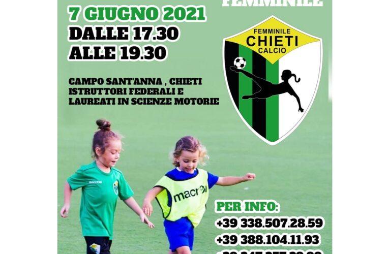 Chieti Calcio Femminile open day 7 giugno 2021