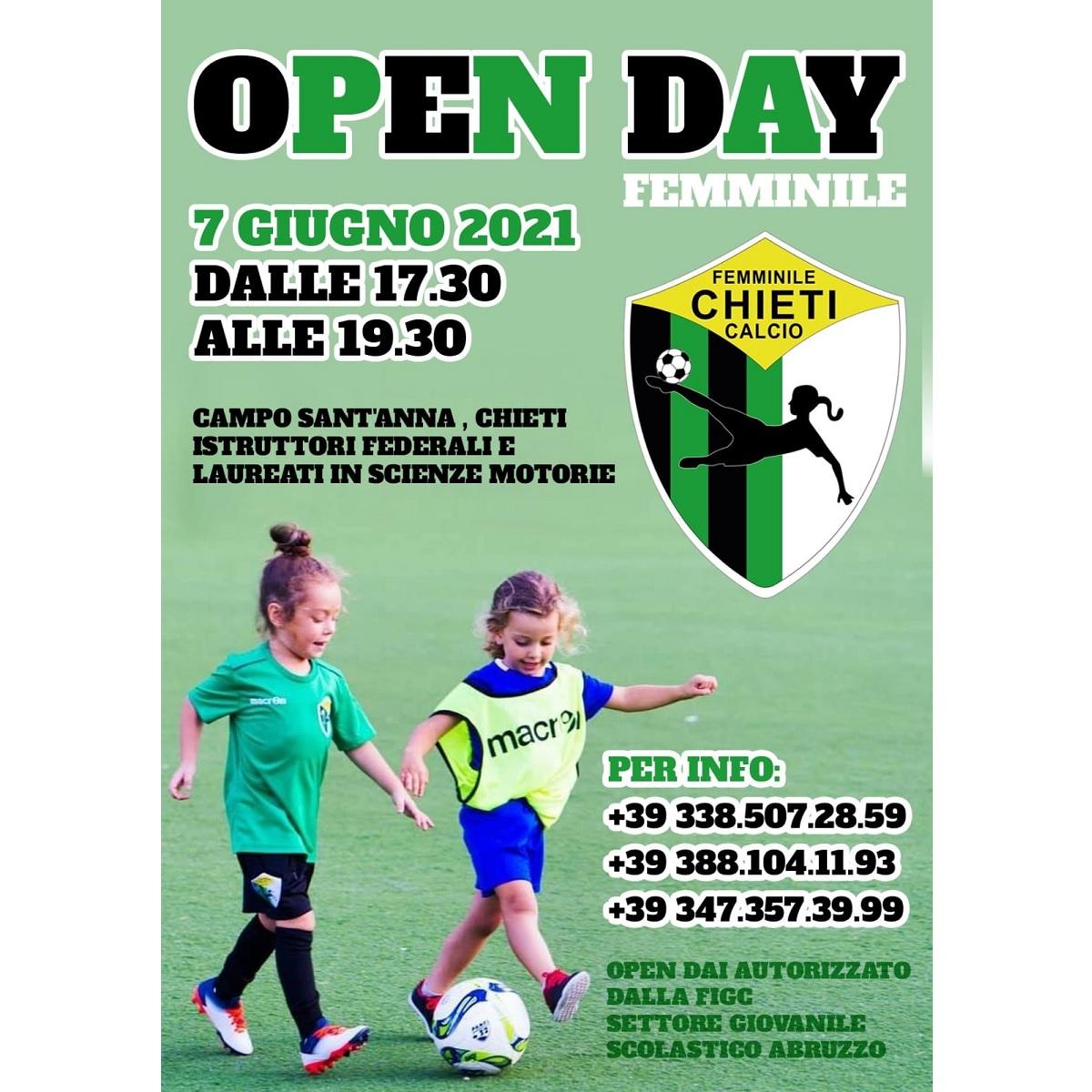 Chieti Calcio Femminile open day 7 giugno 2021 foto