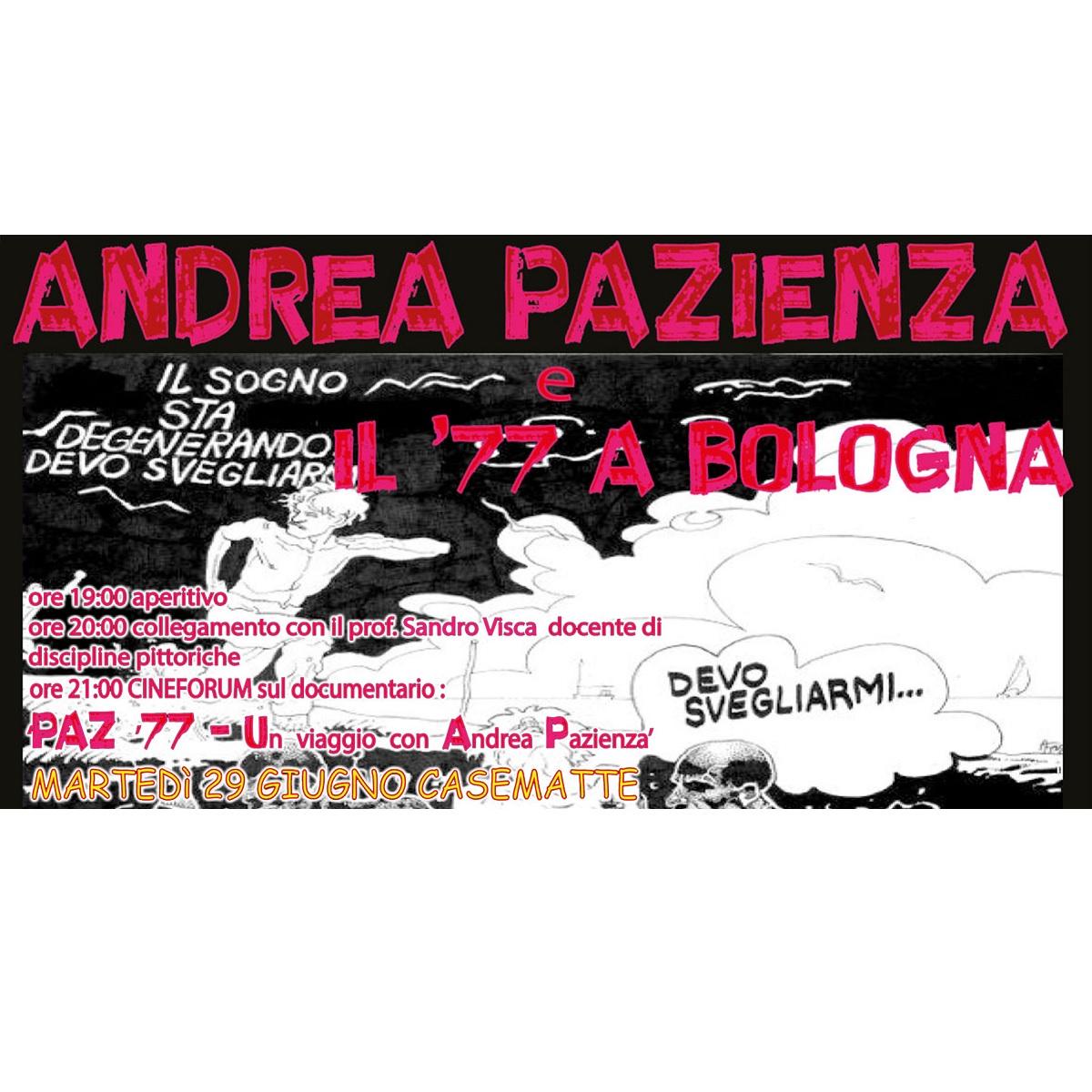 Cineforum Andrea Pazienza e il '77 a Bologna locandina