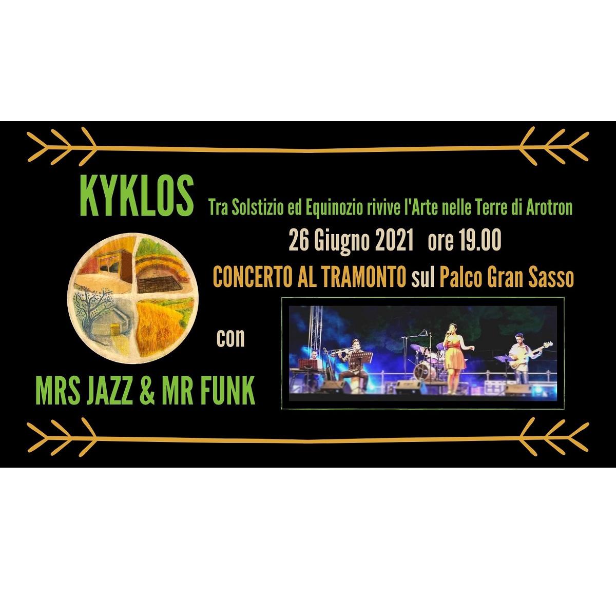 Concerto al Tramonto - Mrs Jazz e Mr Funk 26 giugno 2021 foto