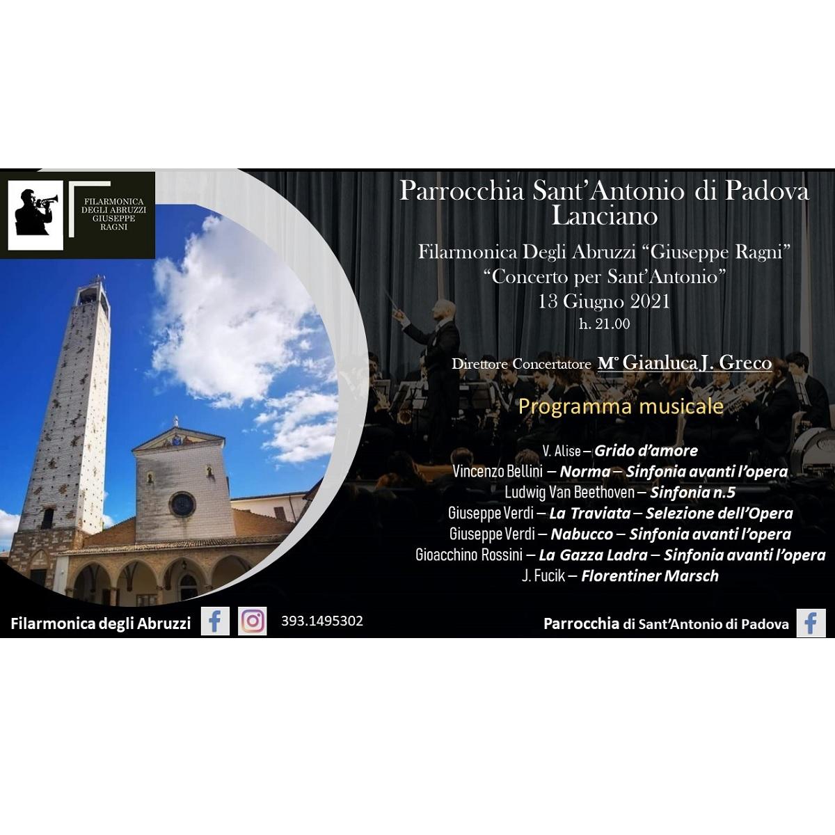 Filarmonica Degli Abruzzi a Lanciano domenica 13 giugno 2021 foto