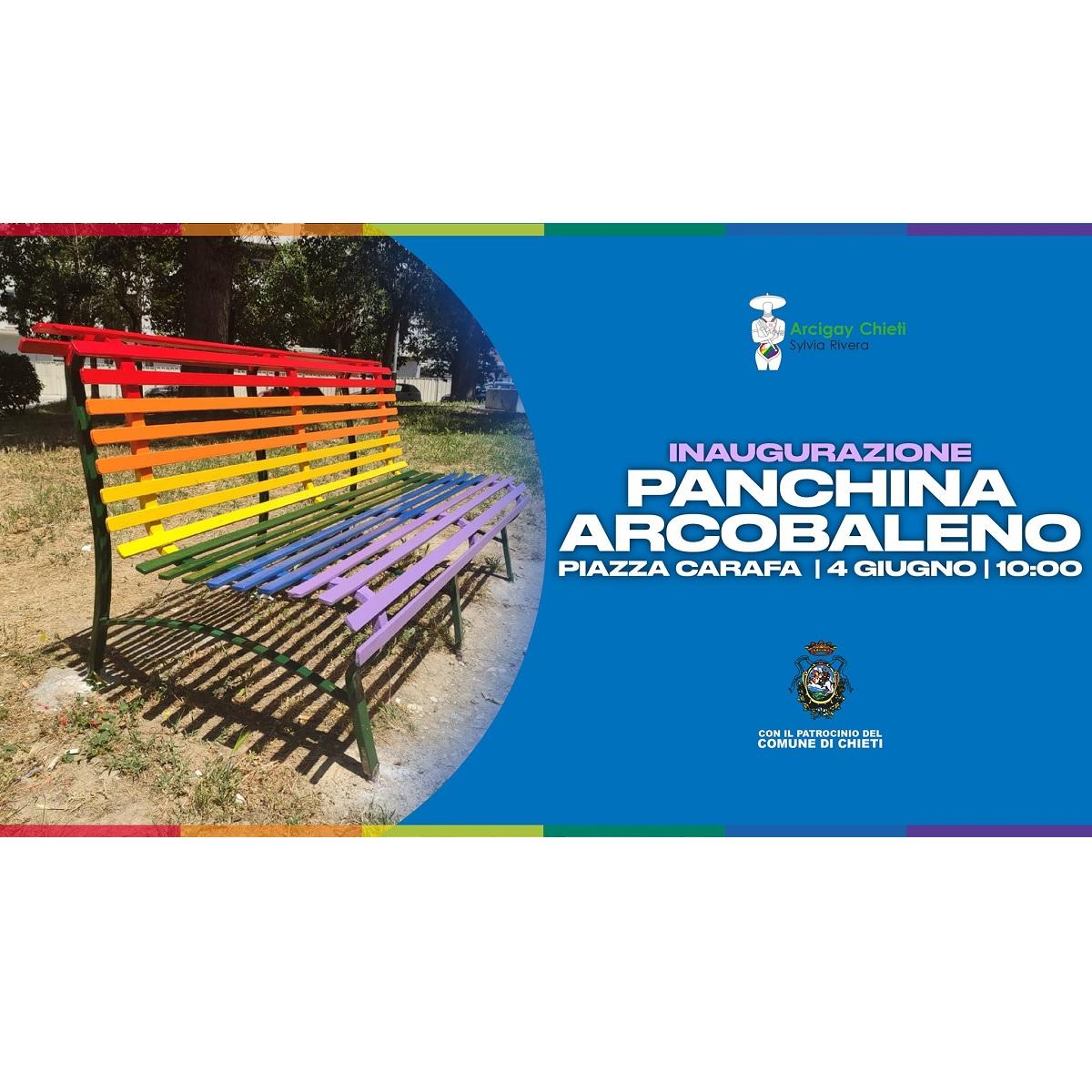 Inaugurazione Panchina Arcobaleno a Chieti Scalo locandina