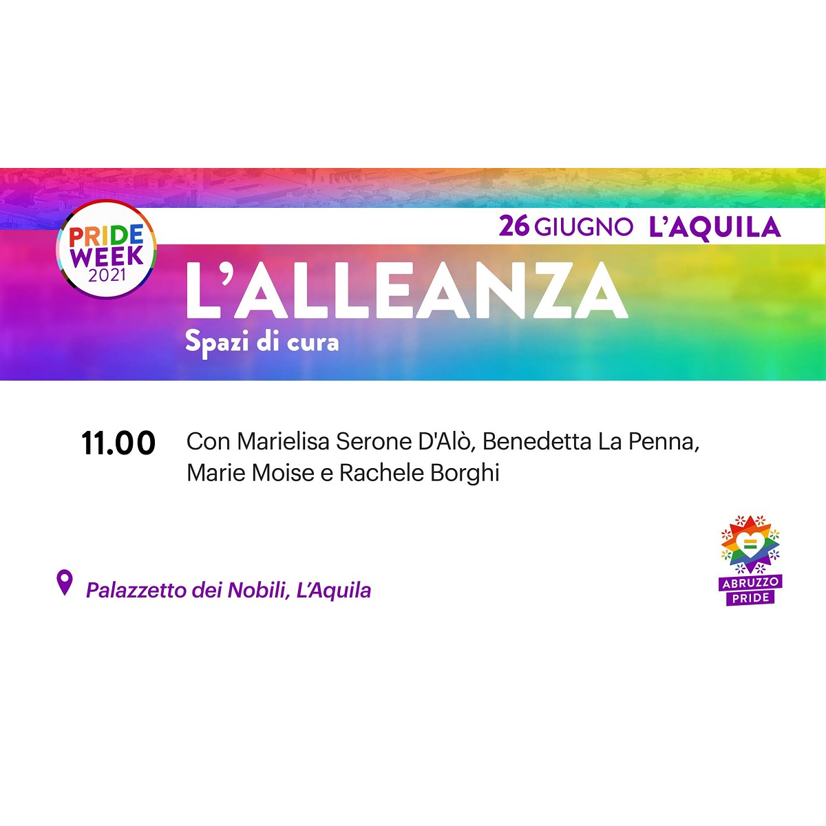 L'alleanza spazi di cura a L'Aquila sabato 26 giugno 2021 foto
